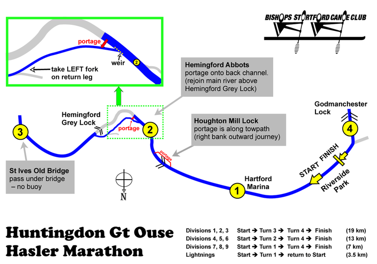 Huntingdon Hasler ourse map
